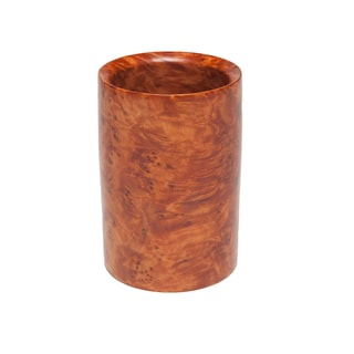 Handmade Thuya Wood Pen and Pencil Cup (Morocco)