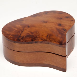 Heart-Shaped Thuya Wood Box (Moroccan)
