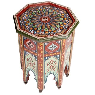 Handmade Colorful End Table (Morocco)