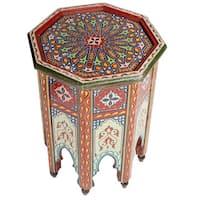 Handmade Colorful End Table (Morocco)