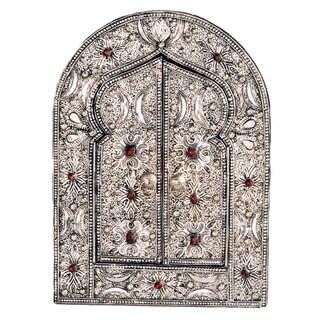 Handmade Keyhole Arch Moon Mirror (Morocco)