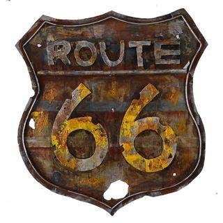 Urban Port 'Retro Route 66' Metal Art