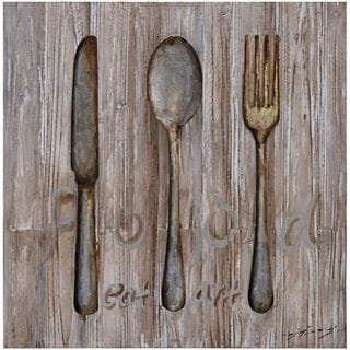 Benzara Urban Port Spoon Knife Fork Metal Art