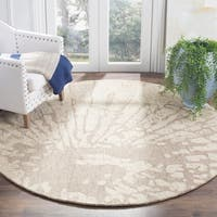 Safavieh Handmade Bella Modern Abstract Winter Taupe Wool Rug - 6' Round