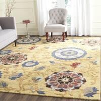 Safavieh Handmade Blossom Gold / Multicolored Wool Rug - 6' x 6' Square