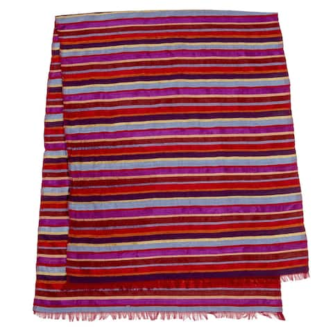 Handmade Multistripe Table Runner (Morocco)