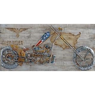 Urban Port Motorbike Metal Wall Art