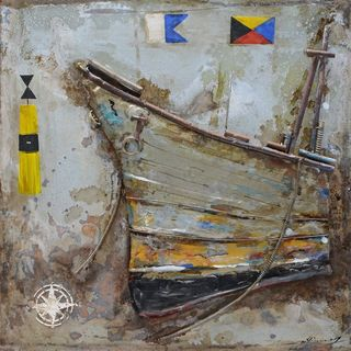 Benzara Urban Port 'Antiqued Ship' Metal Art