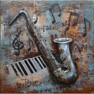 Urban Port 'Music Notes' Metal Wall Decor