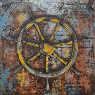 Urban Port 'Nautical Voyage' Multicolored Metal Wall Decor