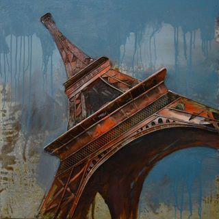 Urban Port 'Eiffel Tower' Rustic Metal Wall Decor