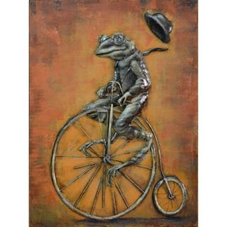 Urban Port 'Cyclic Frog' Metal Wall Decor