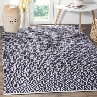 Safavieh Handmade Boston Navy Cotton Rug (4' x 4' Square)