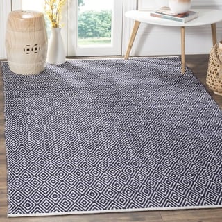 Safavieh Handmade Boston Navy Cotton Rug (4' x 4' Square)