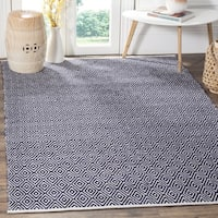 Safavieh Handmade Boston Navy Cotton Rug - 4' Square