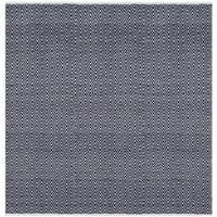 Safavieh Handmade Boston Navy Cotton Rug - 6' Square