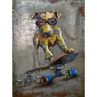 Urban Port 'Dog on Board' Iron Wall Decor