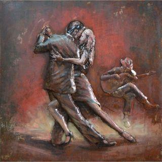 Benzara Urban Port 'Tango Dancing Couple' Iron Wall Art