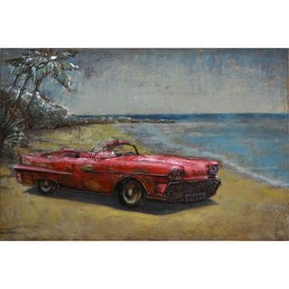 Urban Decor Red Vintage Convertible Wall Art