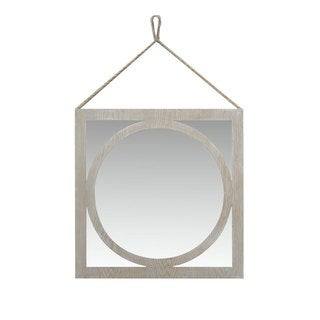 Urban Port Wash White Wooden Wall Mirror