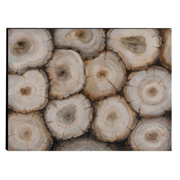 Shop Urban Port Brown Aluminum/Wood Timber Wall Art Decor - On Sale ...