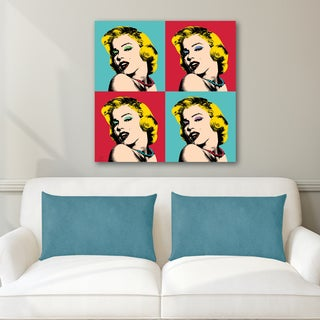 Portfolio Canvas Decor Mark Ashkenazi 'Marilyn 9' Ready-to-hang Stretched Canvas Print Wall Art
