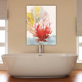Portfolio Canvas Decor Amarilys Henderson 'Pink Coral Spray II' Stretched and Wrapped Canvas Wall Art Print
