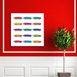 Portfolio Canvas Decor Katy Donaldson 'Pop Cars' Stretched-canvas Gallery-wrapped Wall Art