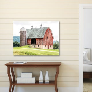 Portfolio Canvas Decor Tony Schwartz 'Red Barn' Multicolored Canvas Stretched and Wrapped Wall Art