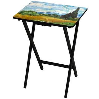 Handmade Van Gogh Wheat Field TV Tray (China)