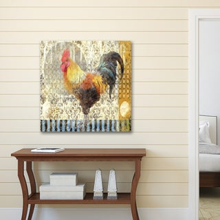 d'Ellen 'Rooster II' Stretched, Wrapped, and Ready-to-hang Portfolio Canvas Print Wall Art Decor