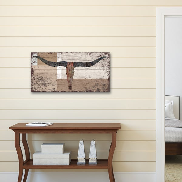 Portfolio Canvas Decor Canvas Print Wall Art - 'Steer 7' by IHD Studio Stretched and Wrapped, Ready to Hang