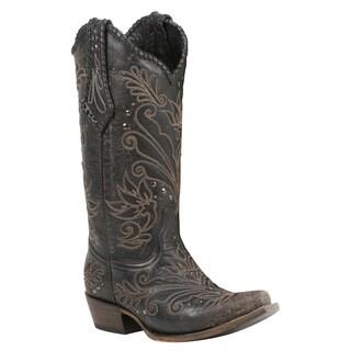 Black Star ZAVALA (Black Vintage) Women's Cowboy Boots