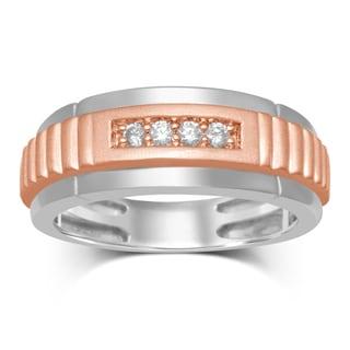 Unending Love 10K Rose Gold 1/7-carat TW Diamond (IJ I2-I3) 2-Stone Band