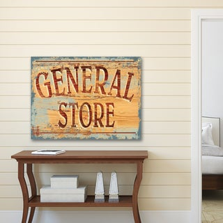 Portfolio Canvas Decor IHD Studio 'Vintage Signs General Store' Canvas Print Wall Art