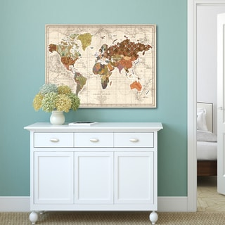 Portfolio Canvas Decor Studio Voltaire 'World Map Patterns' Canvas Print Wall Art Decor