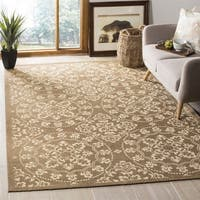 Safavieh Handmade Cedar Brook Taupe / Natural Jute Rug - 6' Square