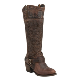 Black Star Centaurus Rust Women's Leather Fashion Western Boots