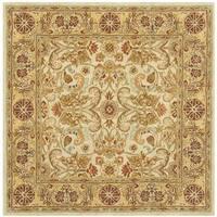 Safavieh Handmade Classic Grey / Light Gold Wool Rug - 6' Square