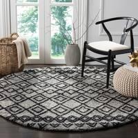 Safavieh Handmade Casablanca Grey / Charcoal Wool Rug - 6' Round