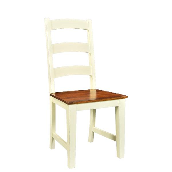 Handmade Mysore Farmhouse Chic Acacia Chairs, Set of 2 (India). Opens flyout.