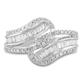 Unending Love Women's 14-karat White Gold 1-carat Total Weight I-J I2 Diamond Fashion Ring
