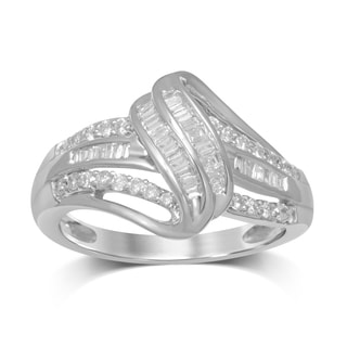 Unending Love 14k White Gold 0.5ct TDW Diamond Ring (I-J, I1-I2)