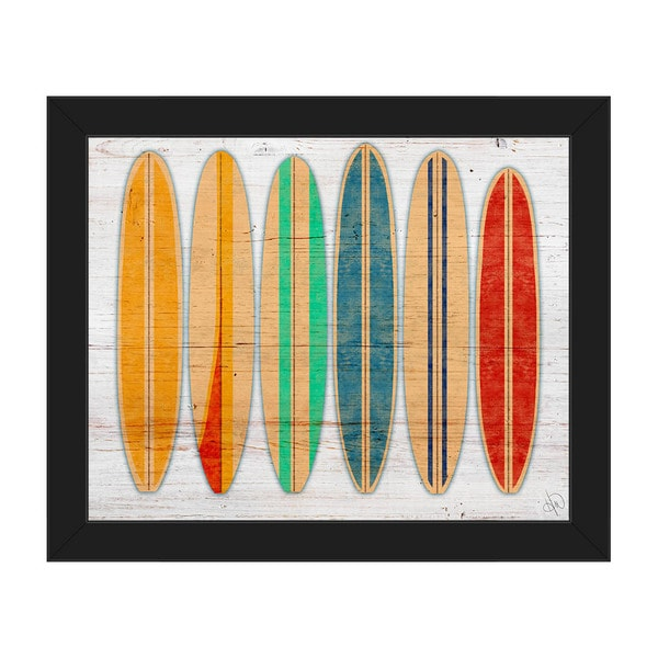 Surfboards Framed Canvas Wall Art