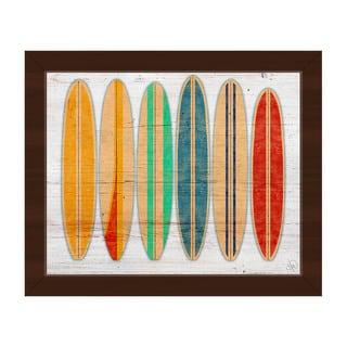 'Surfboards' Framed Canvas Wall Art