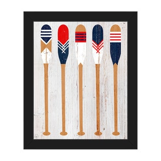 'Patriot Paddles' Framed Canvas Wall Art