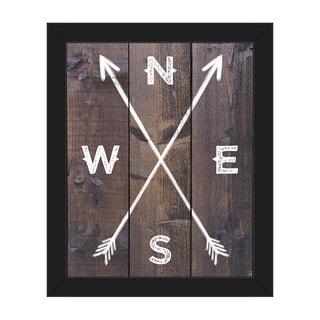 'Direction Arrows' Framed Canvas Wall Art
