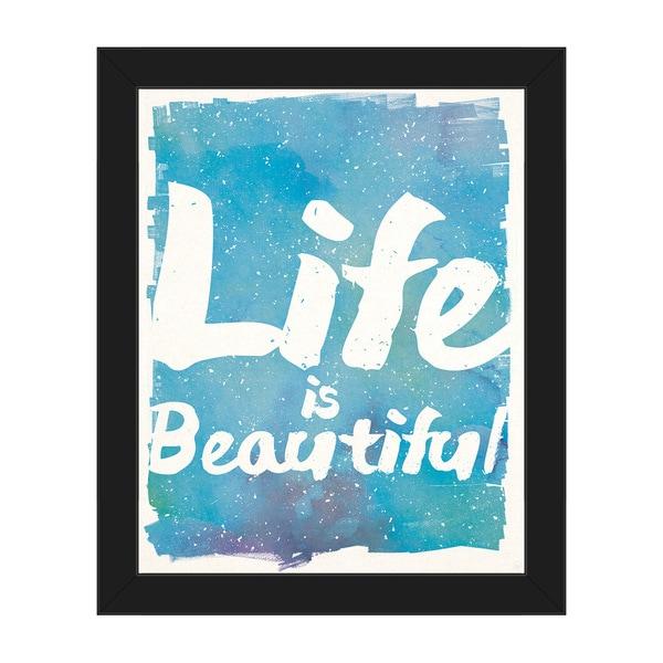 Shop Life Is Beautiful Ocean Framed Canvas Wall Art On Sale