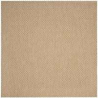 "Safavieh Indoor/ Outdoor Courtyard Natural/ Cream Rug - 6'7"" x 6'7"" square"