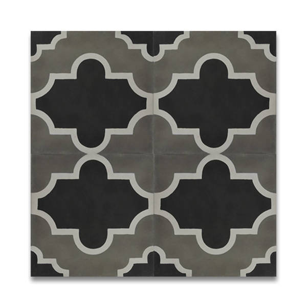Lantern Multicolor Handmade Cement 8 x 8-inch Moroccan Floor and Wall Tile (Pack of 12)